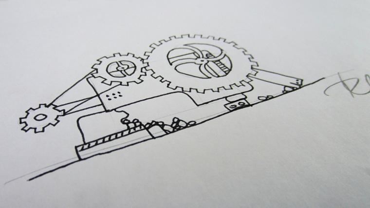 Backer reward at $40: Hand drawn concept art.